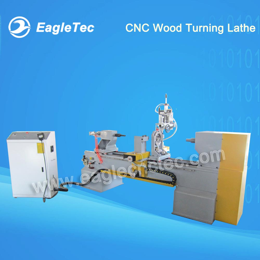 CNC Wood Turning Lathe for Baluster with Gymbals Spindle - 4 Axis