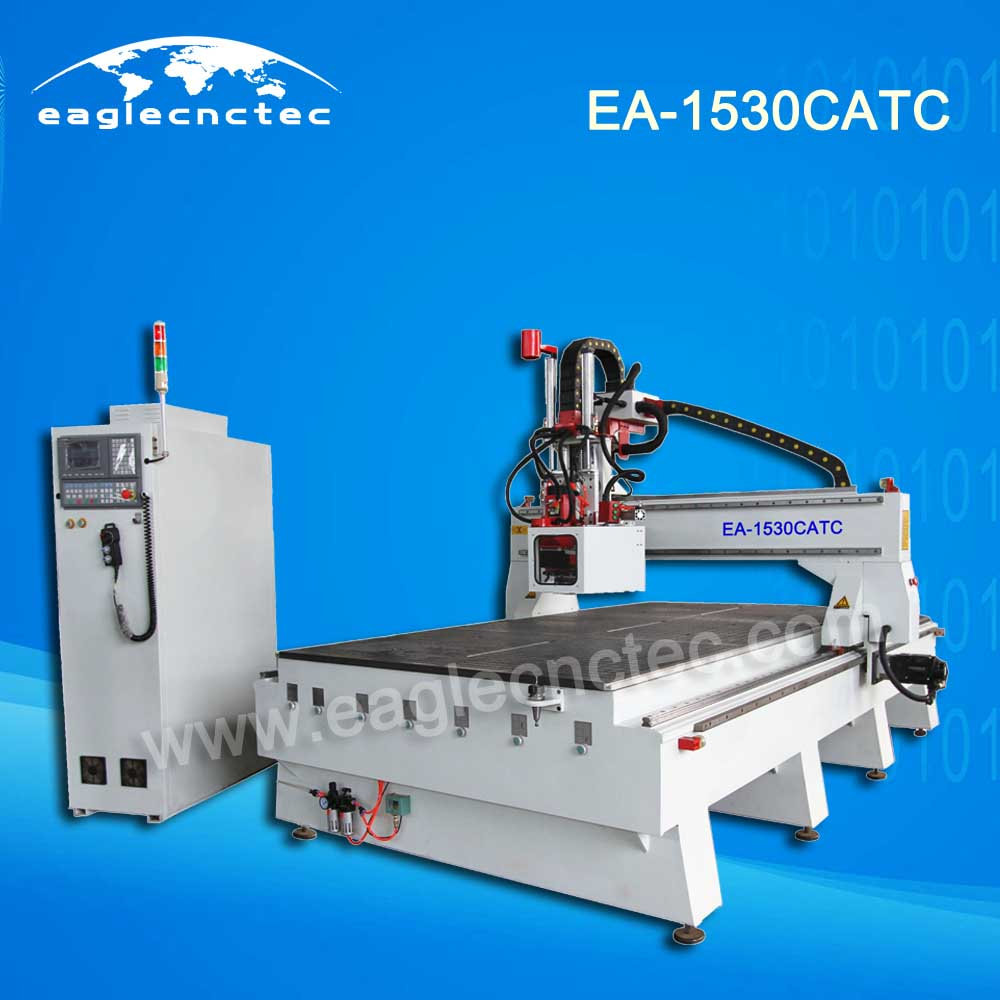 Woodworking Carousel ATC CNC Router Machining Center 1500x3000mm Working Size