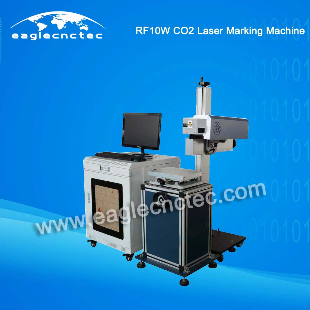 CO2 RF 10W Laser Part Marking Machine With Up And Down Table