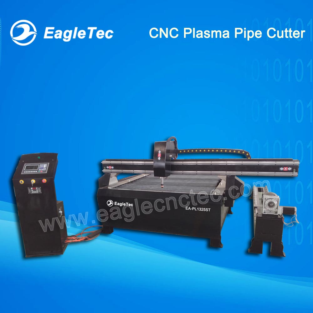 Cut 30 CNC Plasma Pipe Cutter for Circular Pipe and Sheet Metals 1300x2500mm