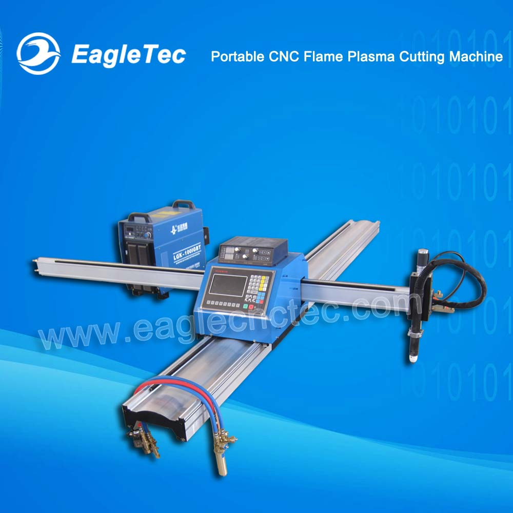 Portable CNC Flame Plasma Cutting Machine with One Flame Torch and One Plasma Torch