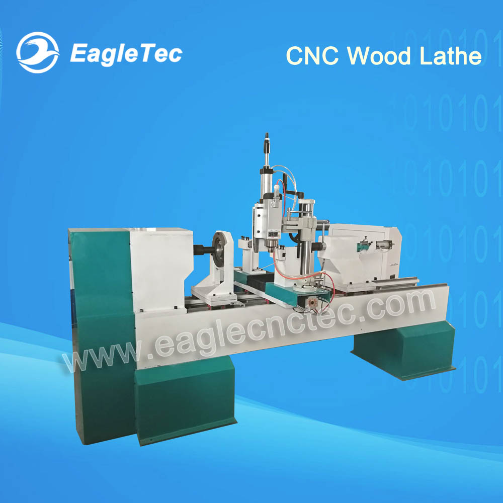 Automatic Wood Lathe for Wooden Balustrade & Newel Post - 3 Axis