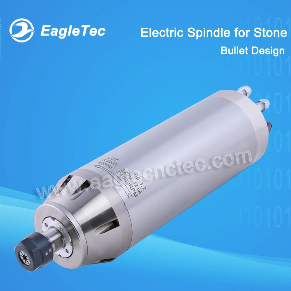 Best 5.5kw Electrospindle Water Cooled Special for Stone Working and Light Metal 24000RPM