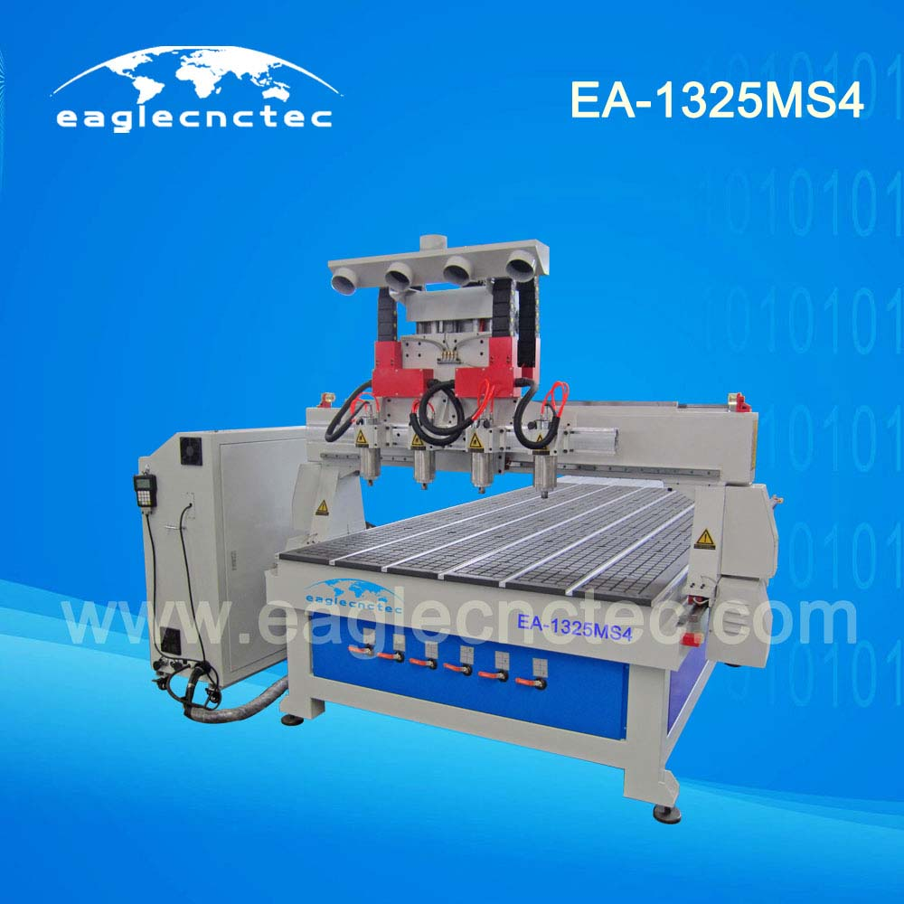 Slatwall Cutting Multi Spindle CNC Router Machine