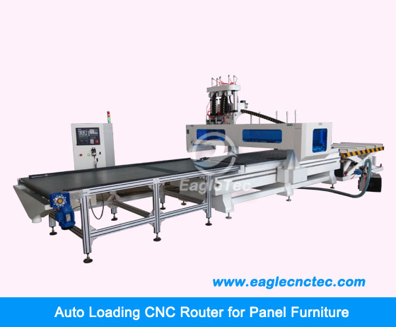 cnc router with auto loading for kitchen furniture office furniture