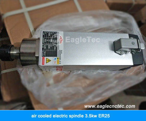 electric spindle gdz93x82-3.5 air cooled 3.5kw ER25 18000rpm