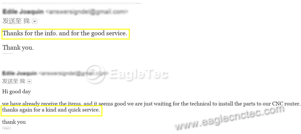 how customer saying eagletec machinery