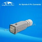 Air Cooled Spindle 6 Pin Connectors Aviation Plug for Sale