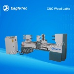 Two Axes Single Cutter CNC Wood Lathe For Making Baseball Bats Banister Balustrade
