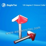 120 Degree V Groove Cutter With 6mm Shank For Vee Cut Jobs