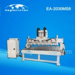 Automated Wood Carving Multi Spindle CNC Machine